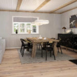 Parchet stratificat alb Oak Vintage White Castle plank 10