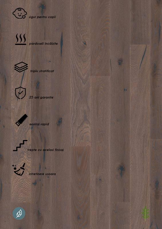 Parchet stratificat gri_Oak Elephant Grey plank