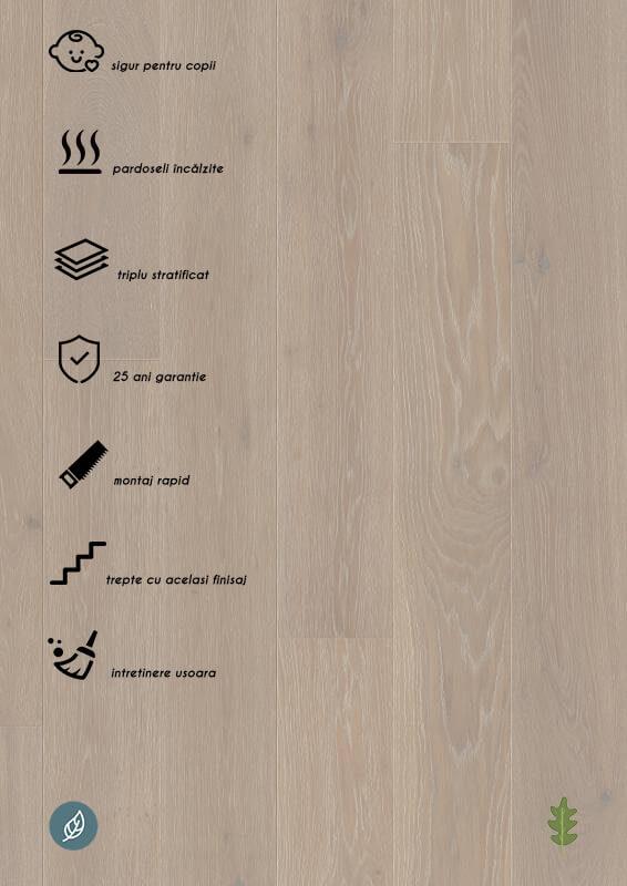 Parchet stratificat gri_Oak Grey Harmony Castle Plank LP