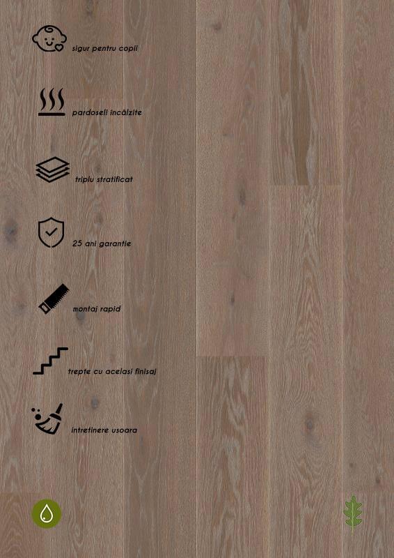 Parchet stratificat gri_Oak India Grey Castle plank