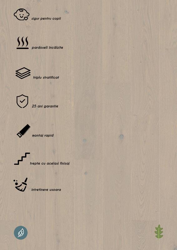 Parchet stratificat gri_Oak Mild Grey plank 181