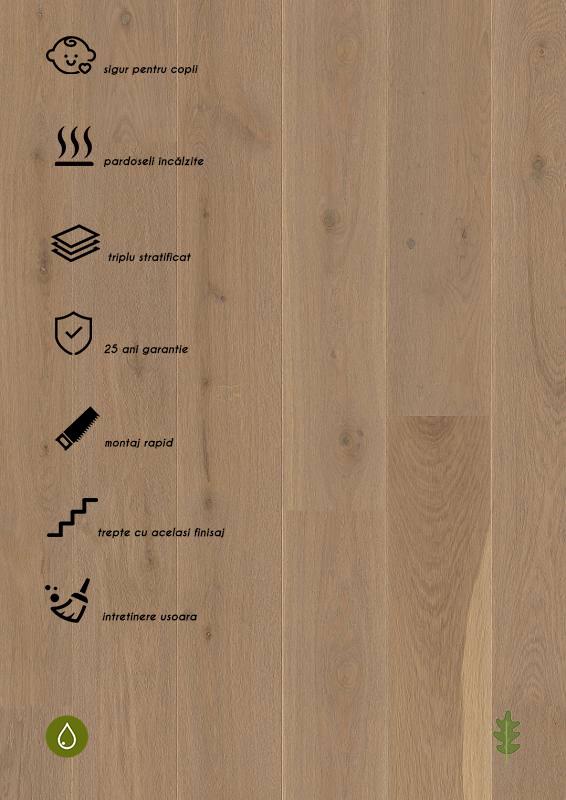 Parchet stratificat gri_Oak Sand Castle Plank