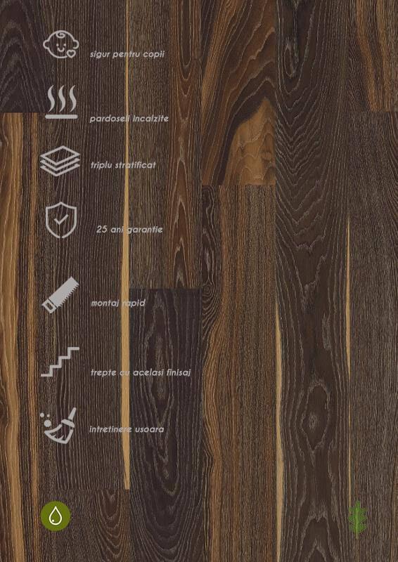 Parchet stratificat negru_Oak Lava Castle Plank