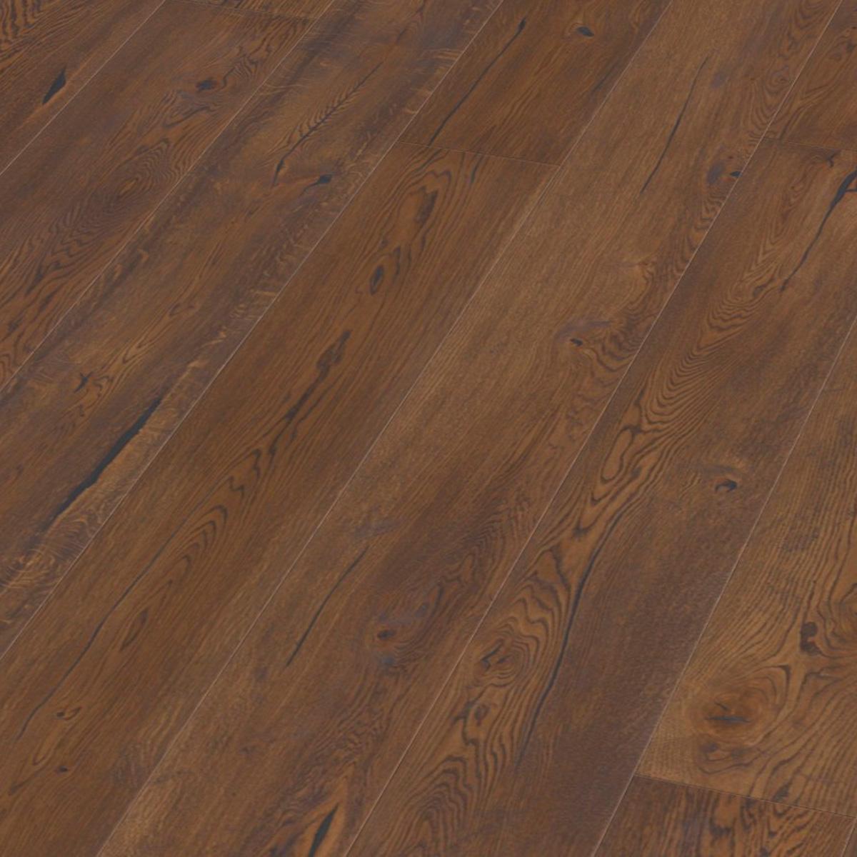 Parchet stratificat stejar antique brown hand crafted plank_1